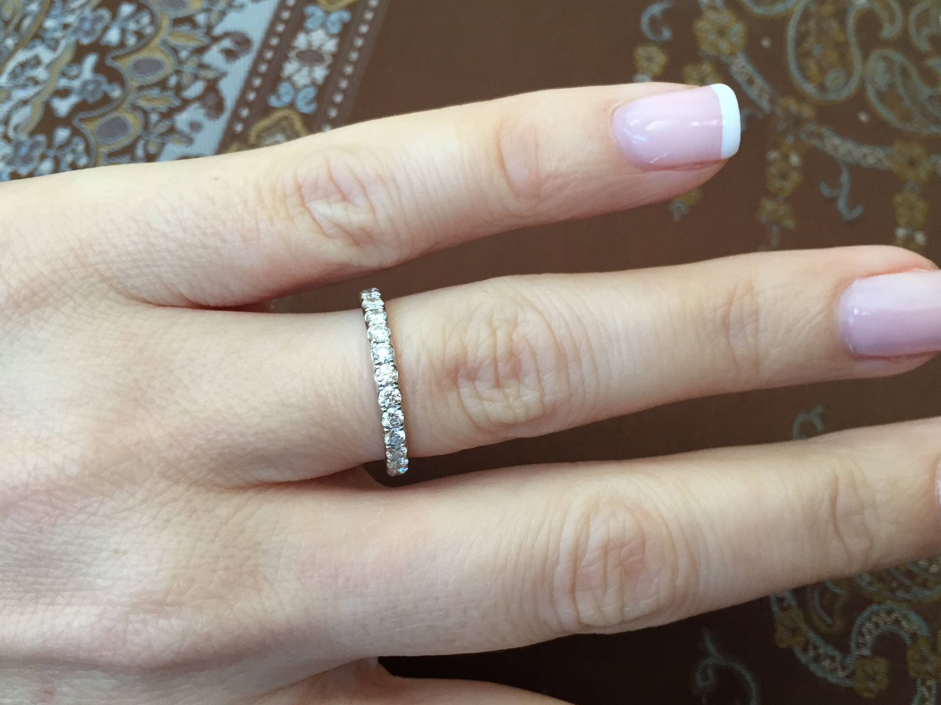 My New Blue Nile French Pave Eternity Ring… (View 13 of 15)