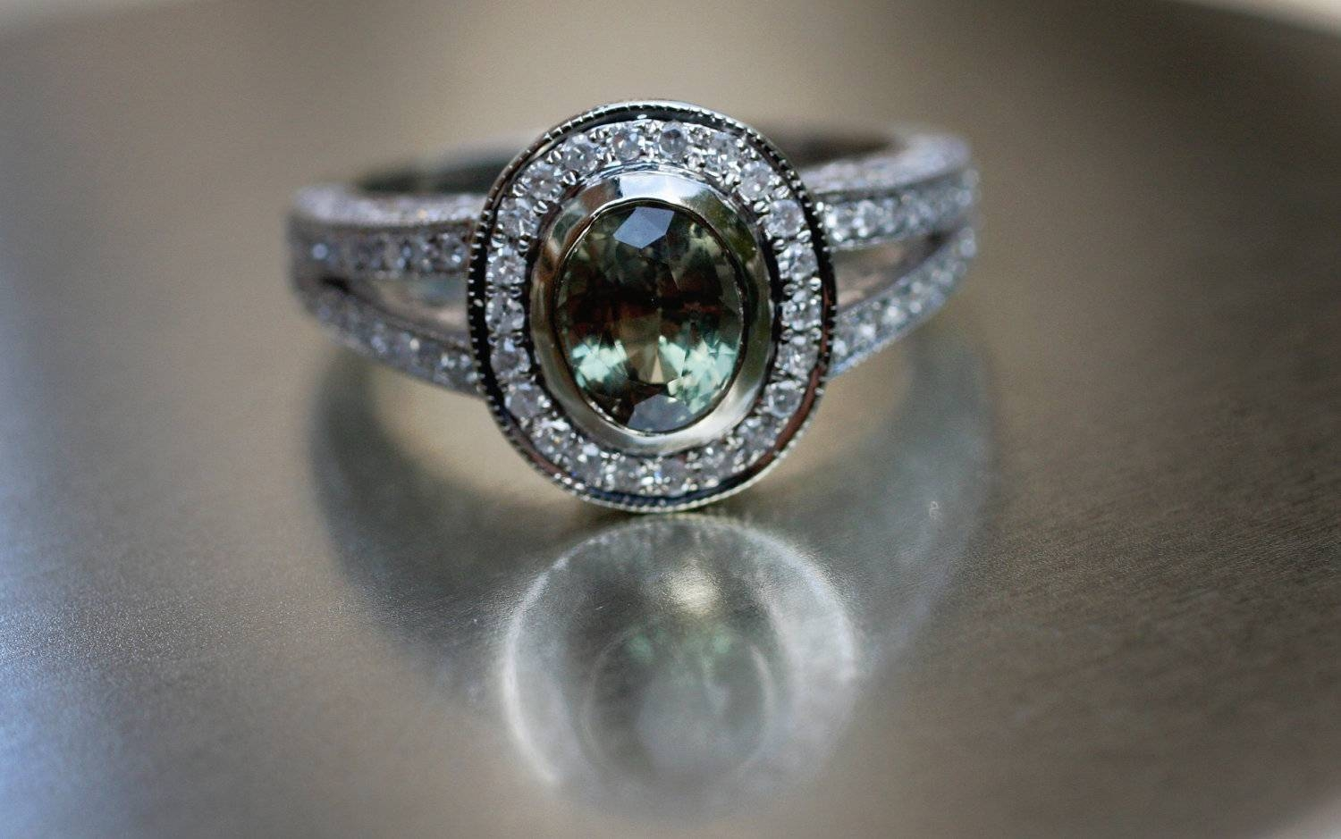 Natural Alexandrite And Diamond Rings | Wedding, Promise, Diamond Pertaining To Alexandrite Wedding Bands (View 10 of 15)