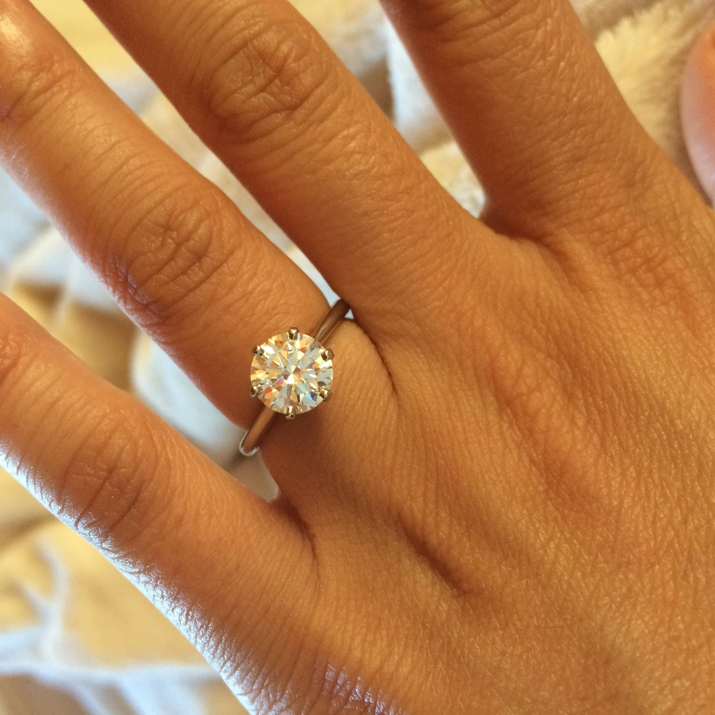 Need To See Some Size 4 Fingers With Engagement Rings Within Size 4 Diamond Engagement Rings (View 5 of 15)