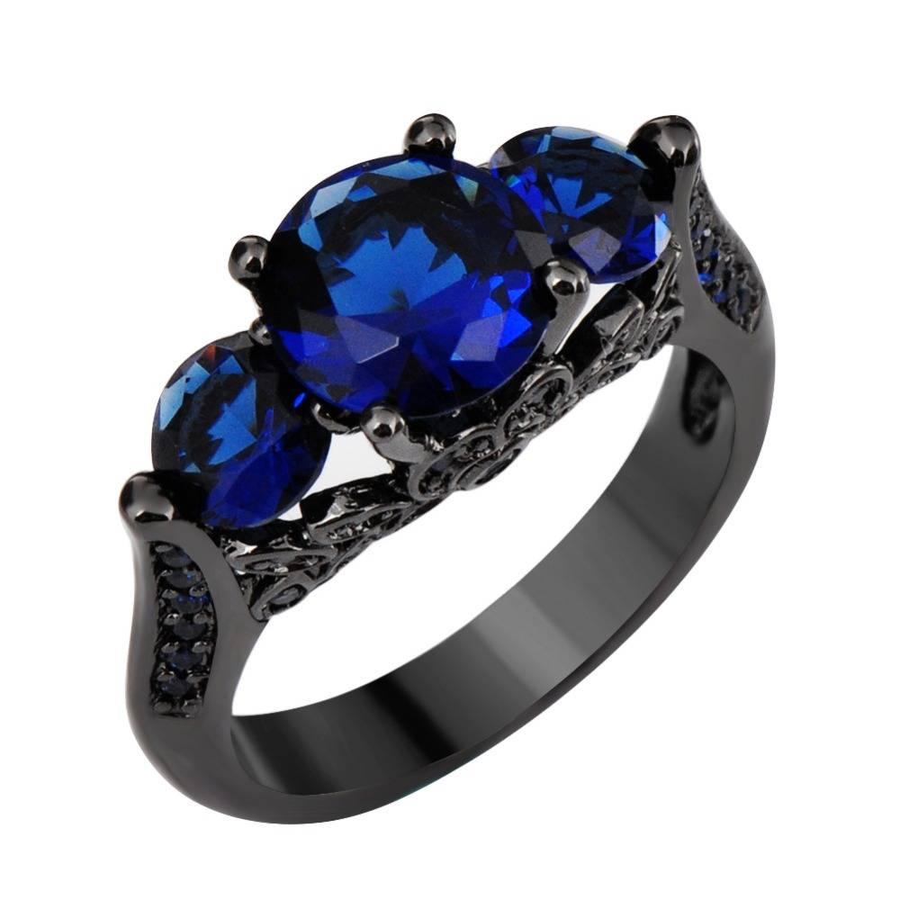 New Black Diamond Engagement Wedding Ring Sets With 05Ct Black In Black Gold Diamond Wedding Rings (Gallery 11 of 15)