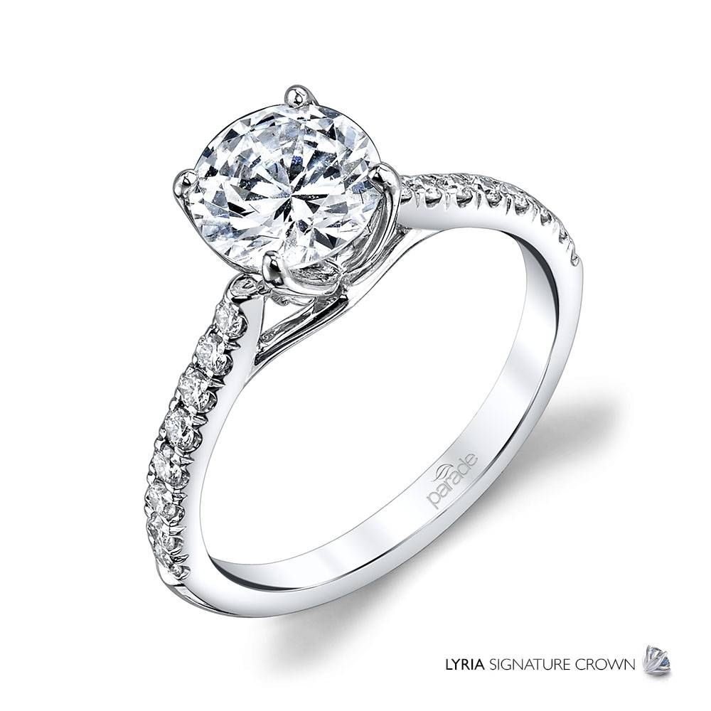 New Classic Bridal R3671B – Parade Design | Designer Engagement Rings Pertaining To Crown Style Engagement Rings (Gallery 4 of 15)