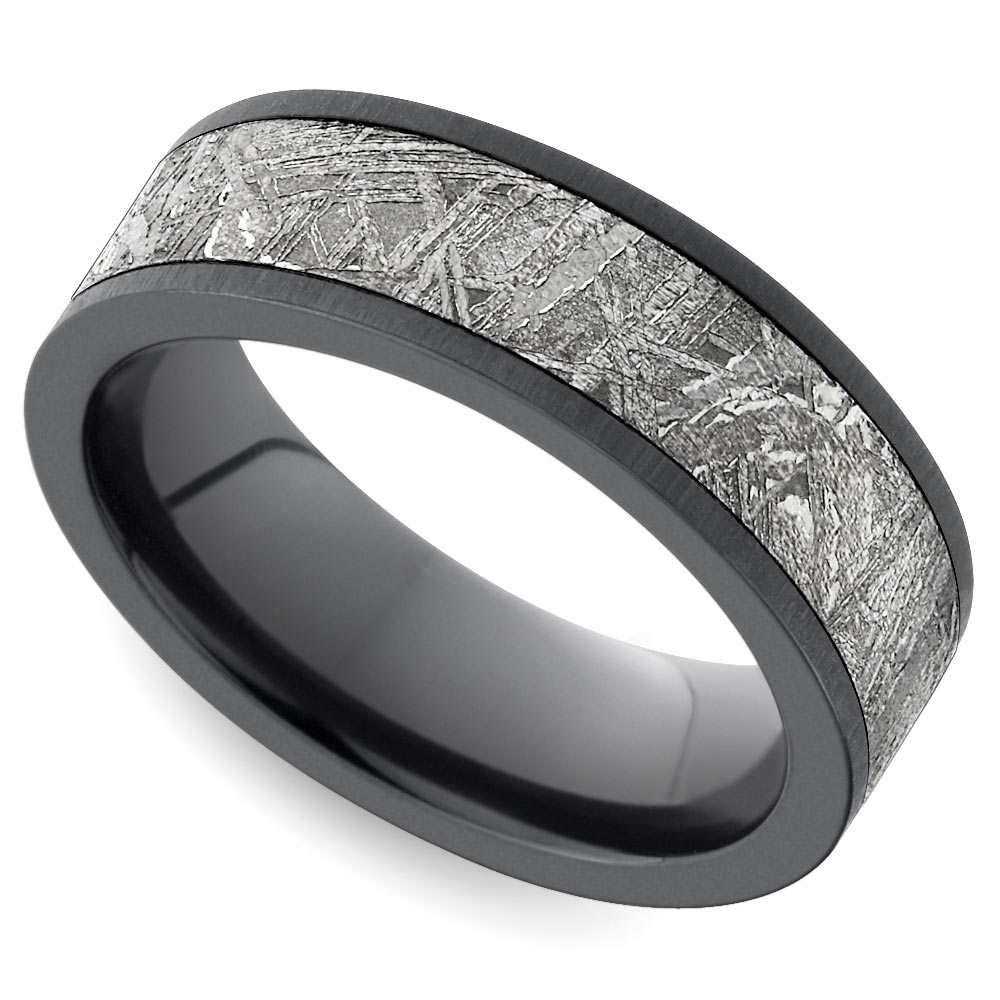 New Unique Men's Wedding Rings Throughout Flat Black Wedding Bands (View 11 of 15)