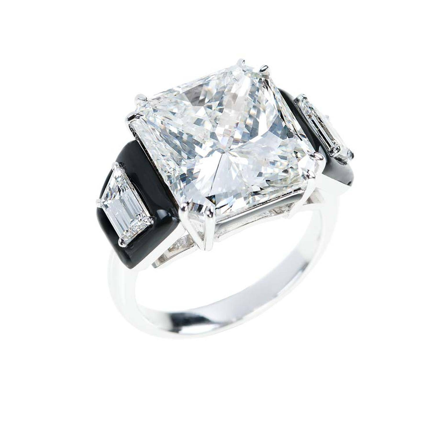 Nikos Koulis Princess Cut Diamond Engagement Ring, With Inside Inset Engagement Rings (Gallery 9 of 15)