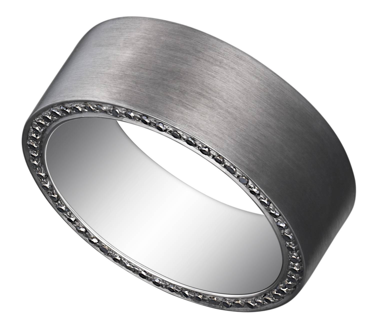 Noir – Men – Wedding Bands Regarding Cheap Men's Wedding Bands (View 5 of 15)