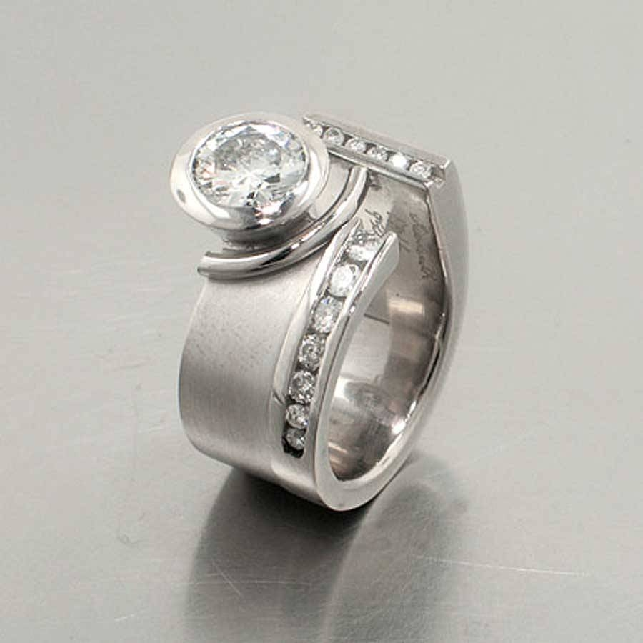 Non Traditional Engagement Rings — Jewelsmith: Innovative, Hand Regarding Untraditional Wedding Bands (Gallery 8 of 15)