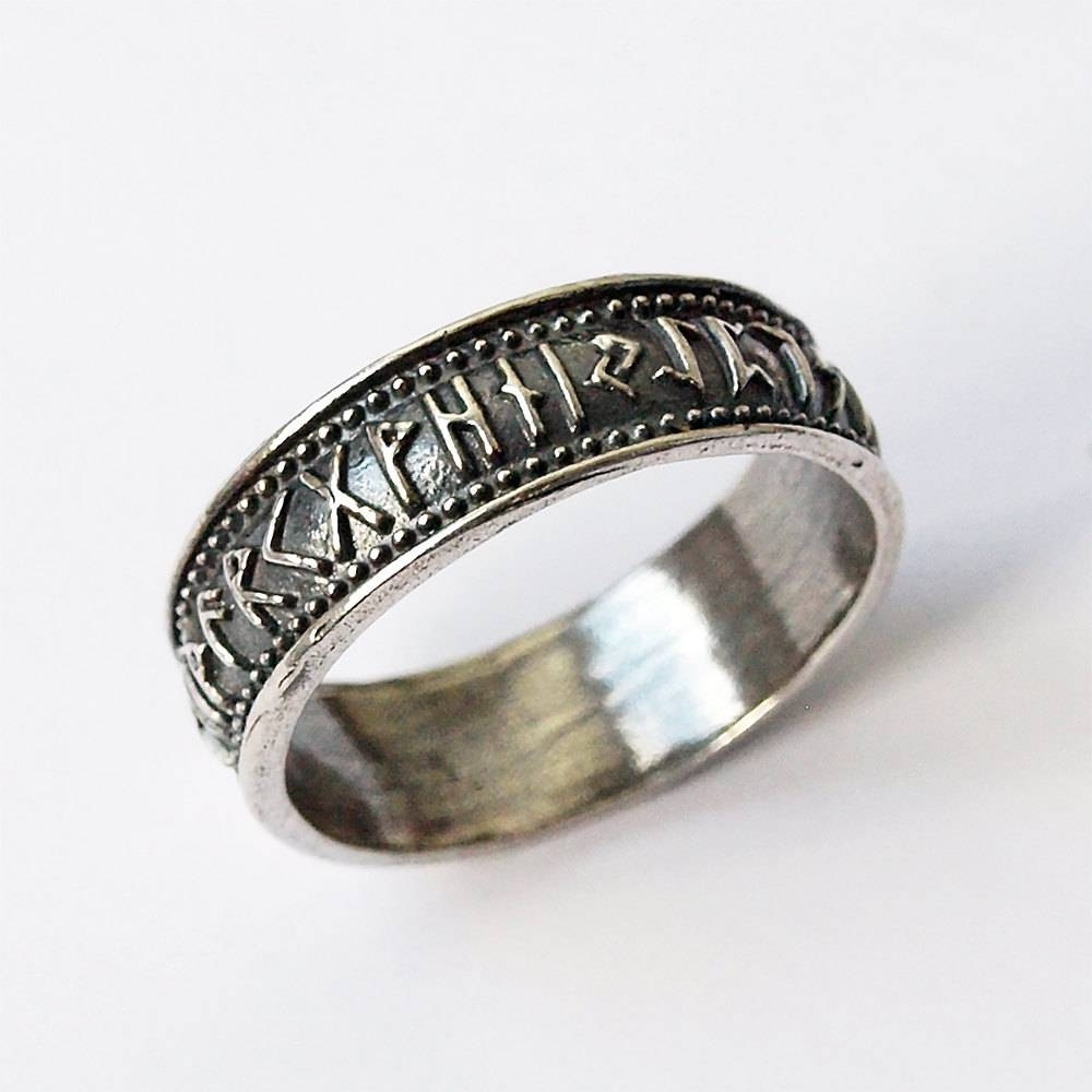 Nordic Jewelry Norse Rings Norse Jewelry Rune Ring Elder Intended For Norse Engagement Rings (View 4 of 15)