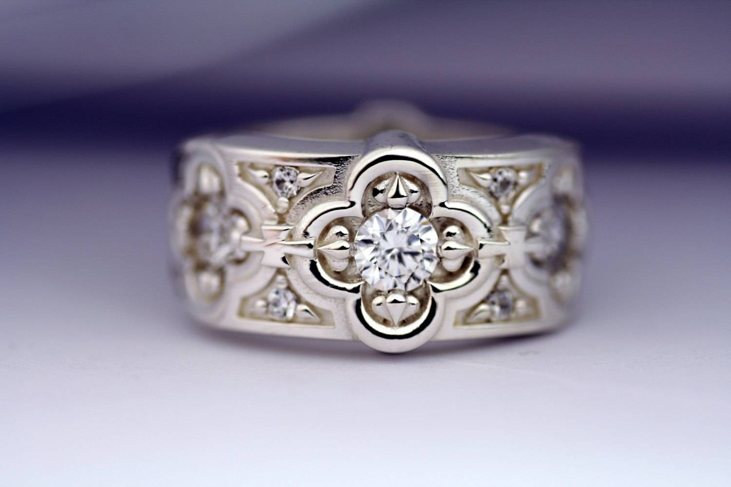 Not Expensive Zsolt Wedding Rings: Renaissance Style Wedding Ring Pertaining To Renaissance Style Engagement Rings (View 10 of 15)