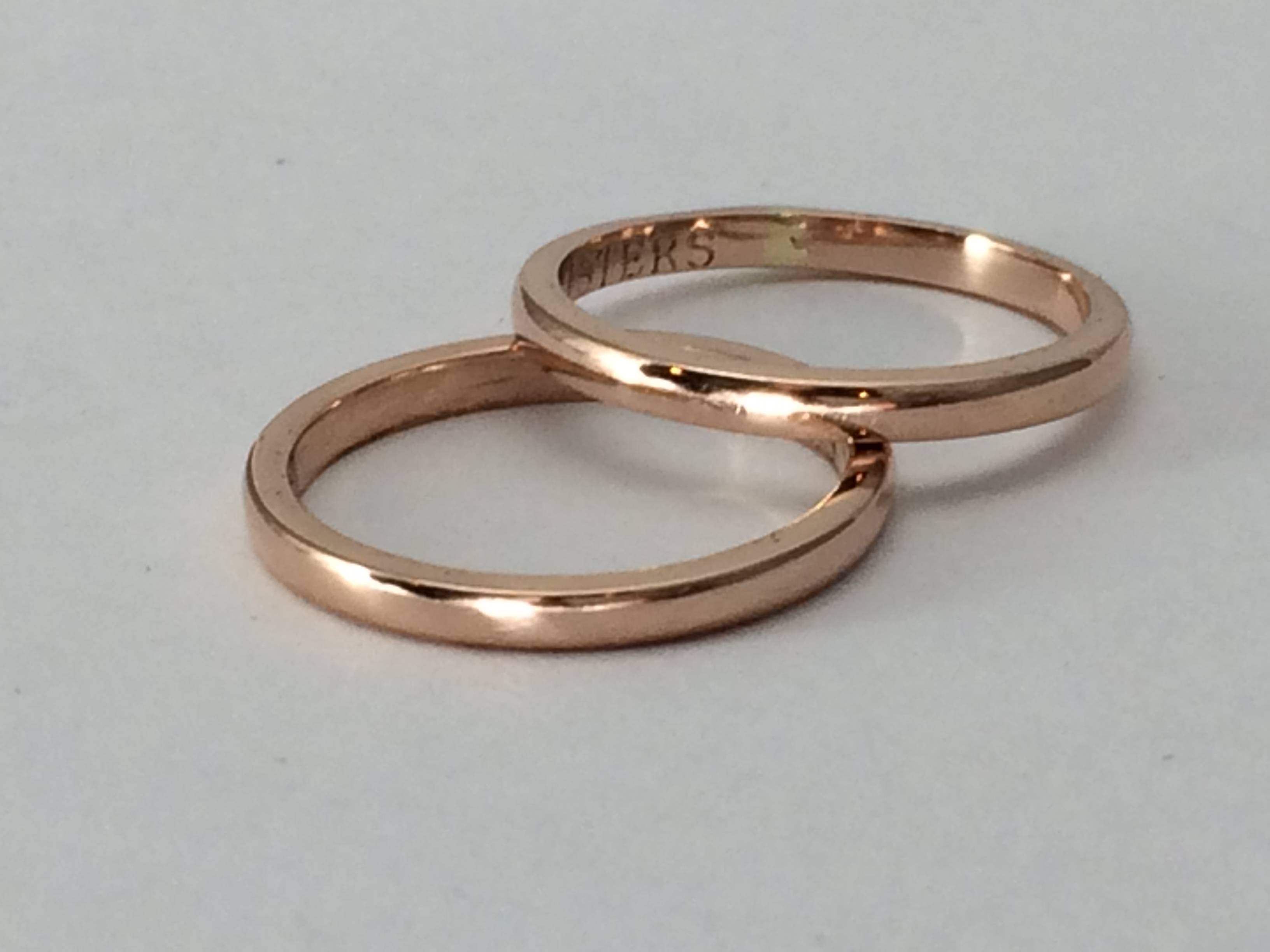 One Ring, 10Kt Gold, 12G Rose Or Yellow Gold Ring, 2Mm Wide, 1.5Mm Pertaining To 1.5 Mm Platinum Wedding Bands (Gallery 11 of 15)