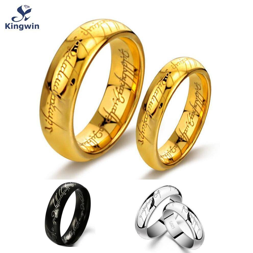 One Ring Of Power Gold Silver Black The Lord Of Rings Women Finger For Lord Of The Rings Wedding Bands (View 11 of 15)