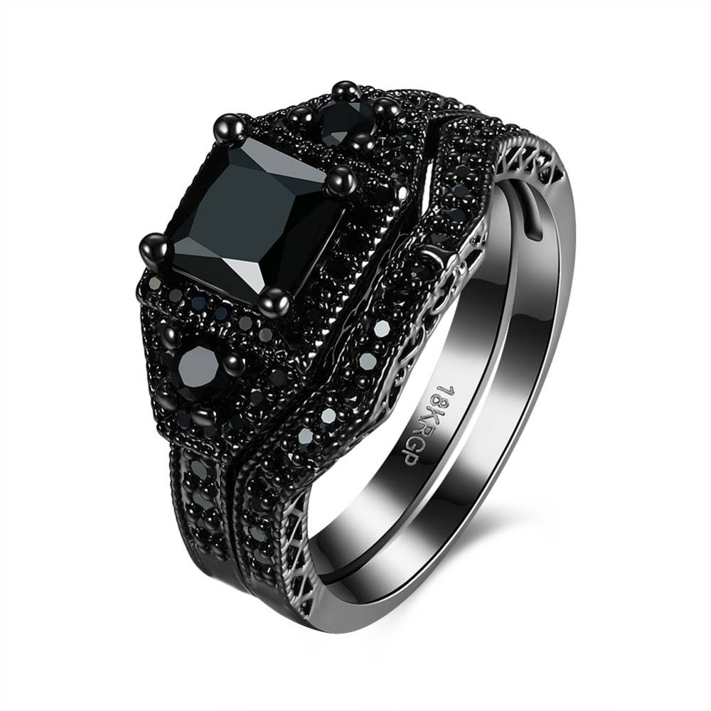 Online Whole Black Onyx Ring From China In Wedding Bands