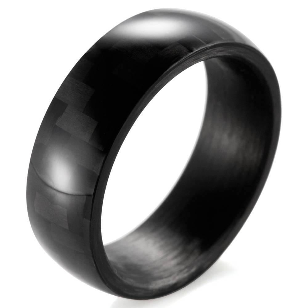 Mens Carbon Fiber Glow Ring  Lightweight Handcrafted