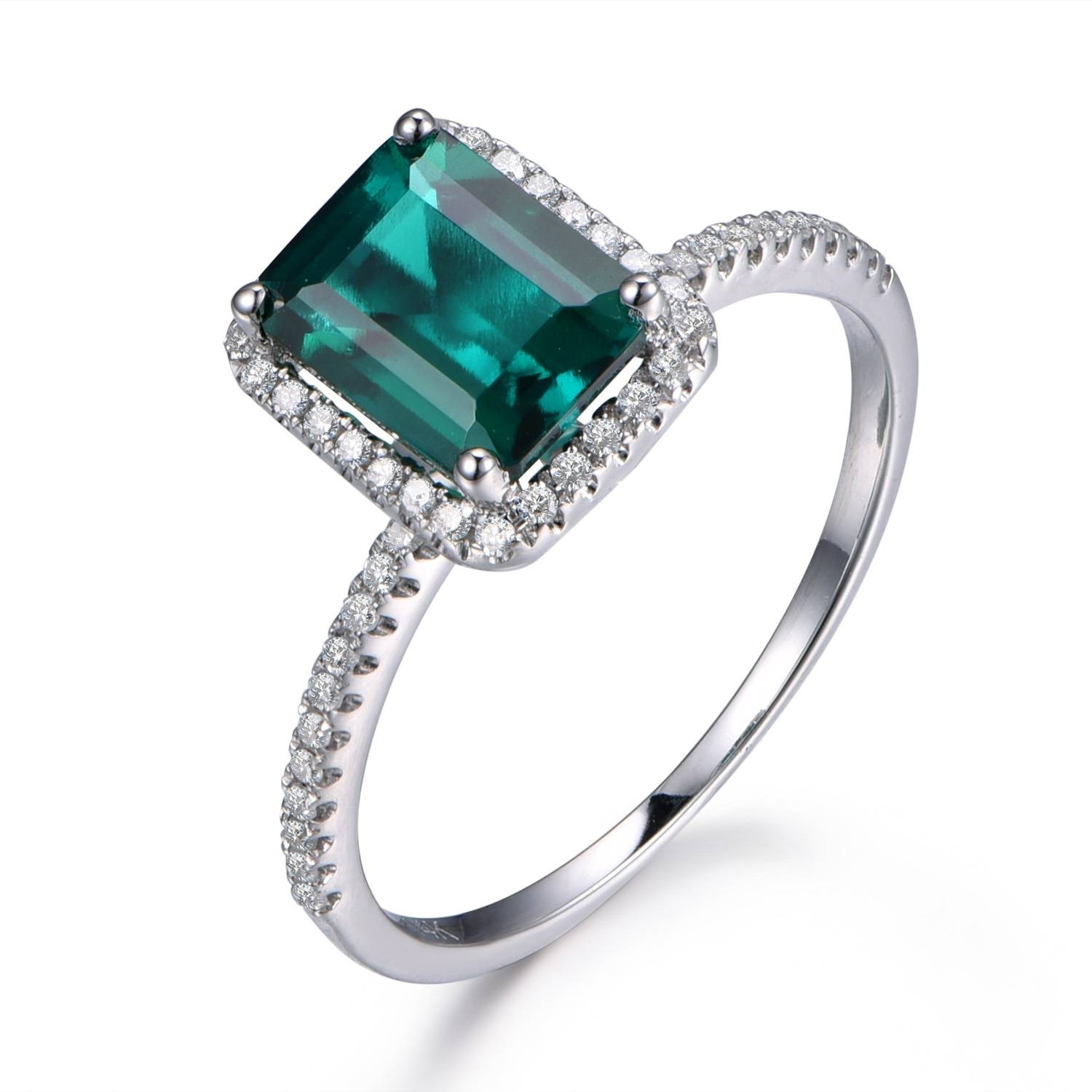Online Buy Wholesale Emerald Birthstone Ring From China Emerald Inside Irish Emerald Engagement Rings (Gallery 10 of 15)
