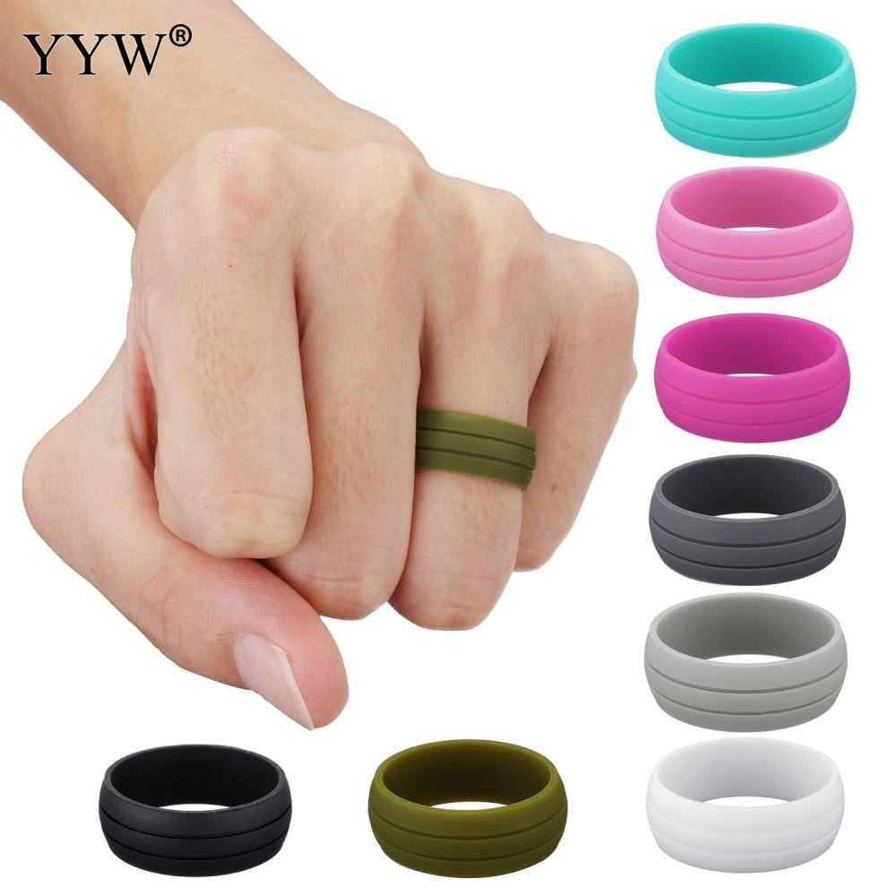 Online Buy Wholesale Silicone Wedding Band From China Silicone For Plastic Wedding Bands (View 3 of 15)