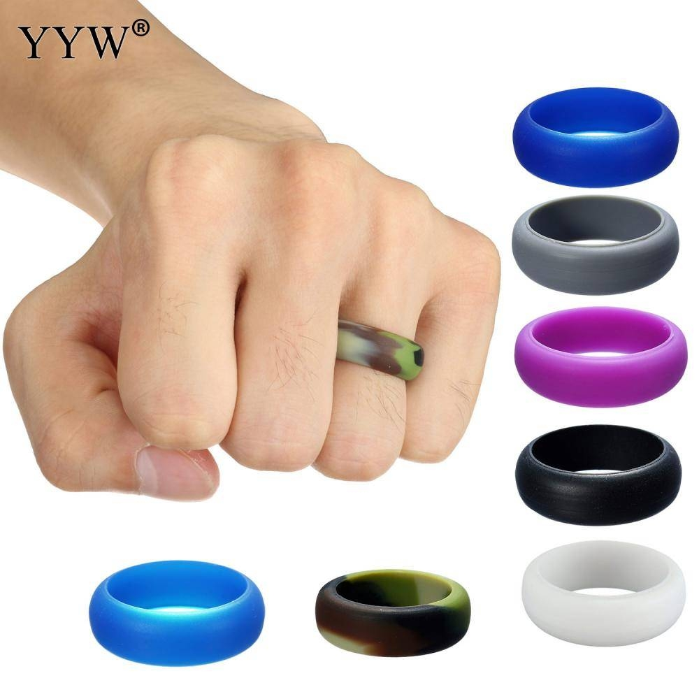 Online Buy Wholesale Silicone Wedding Band From China Silicone Inside Plastic Wedding Bands (Gallery 11 of 15)