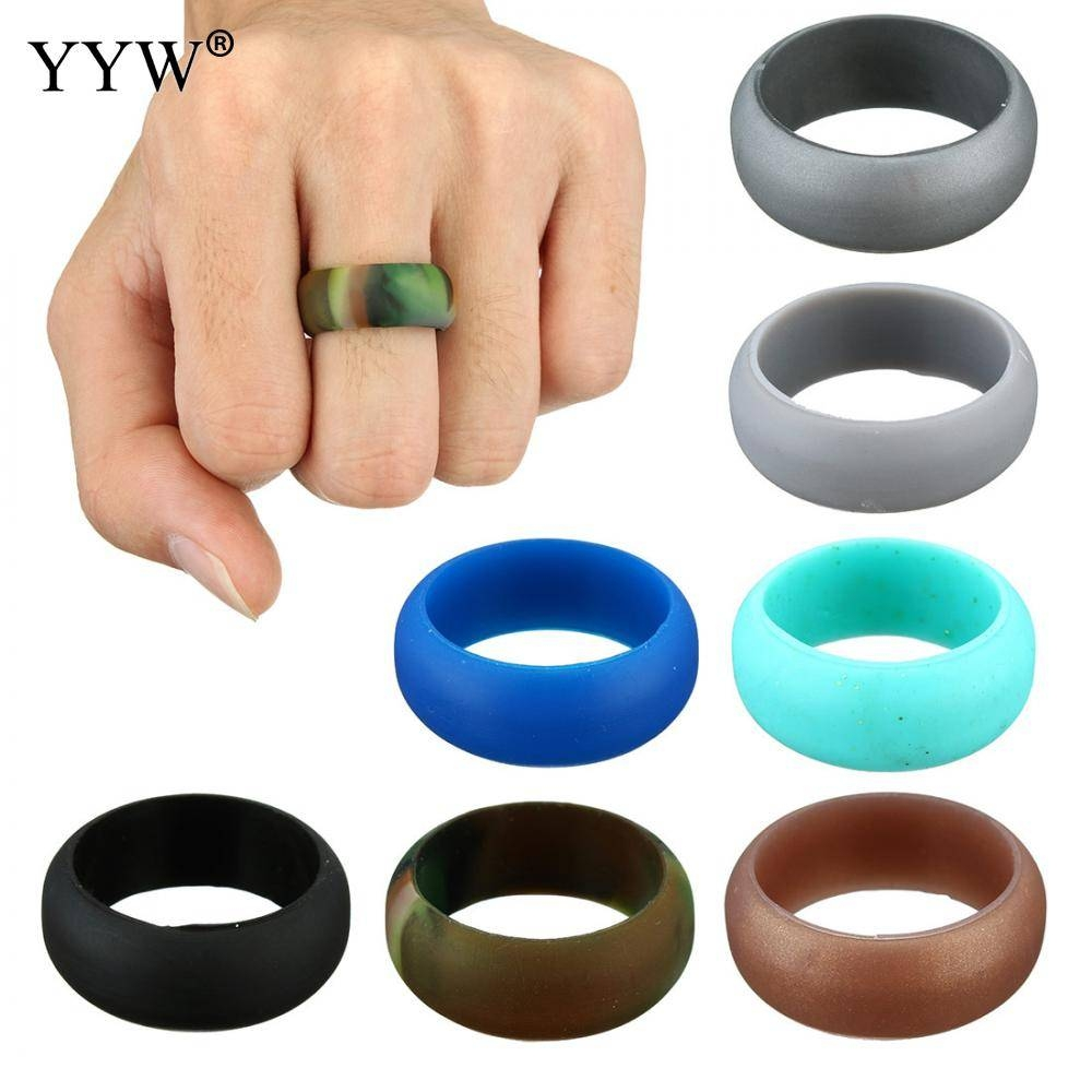Online Buy Wholesale Silicone Wedding Band From China Silicone With Stretchy Wedding Bands (Gallery 15 of 15)