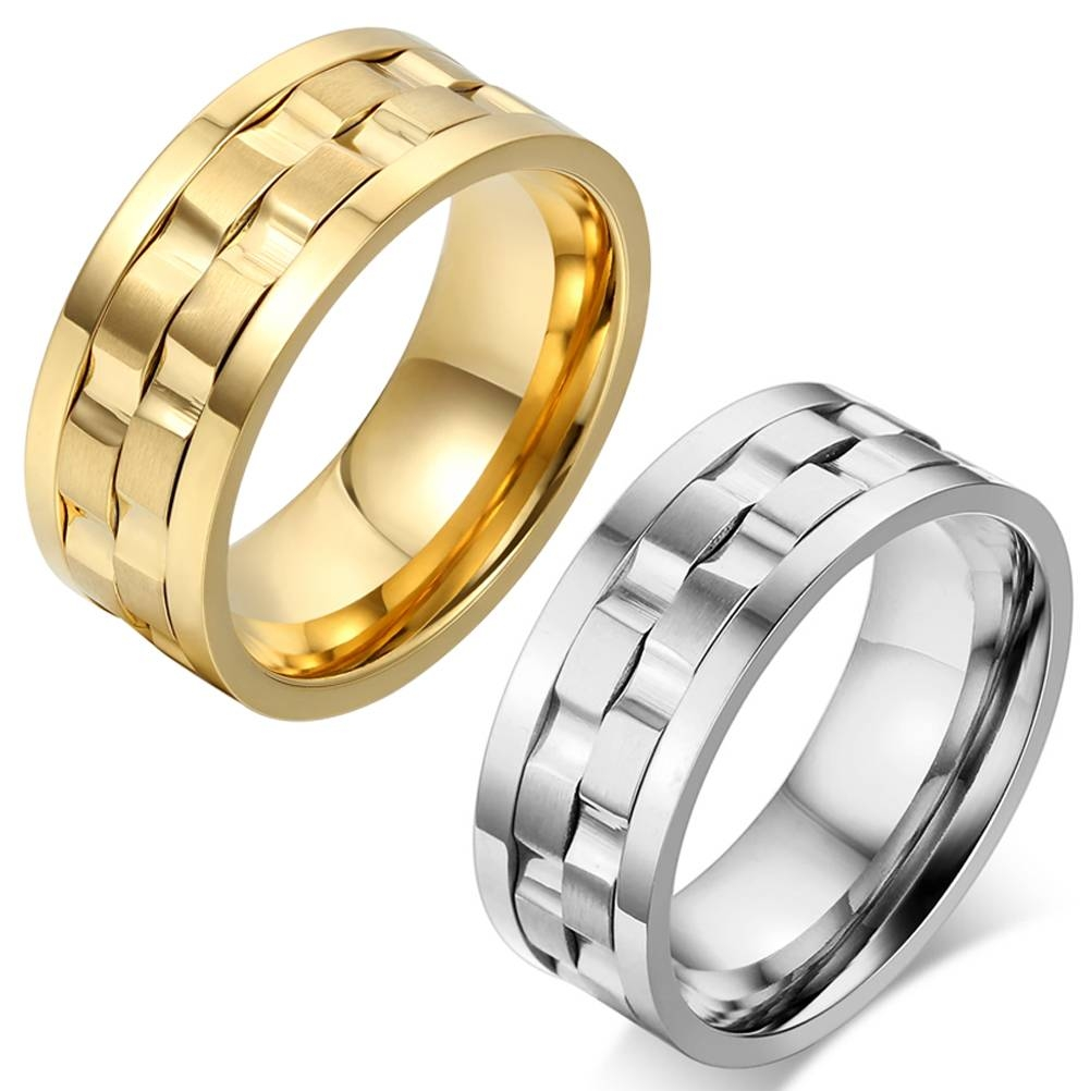 Online Buy Wholesale Silver Spinner Ring From China Silver Spinner In Men's Spinning Wedding Bands (View 6 of 15)