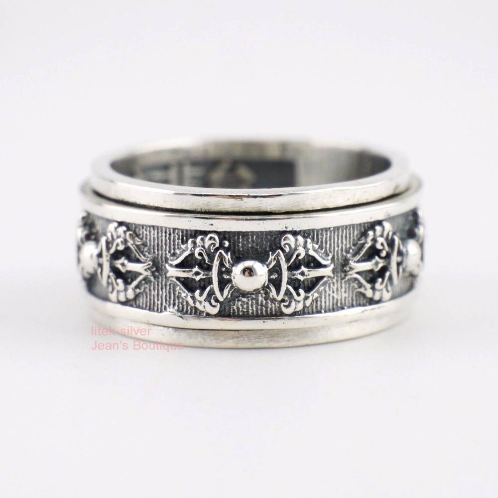 Online Buy Wholesale Spinning Rings Men From China Spinning Rings With Spinning Mens Wedding Bands (View 3 of 15)