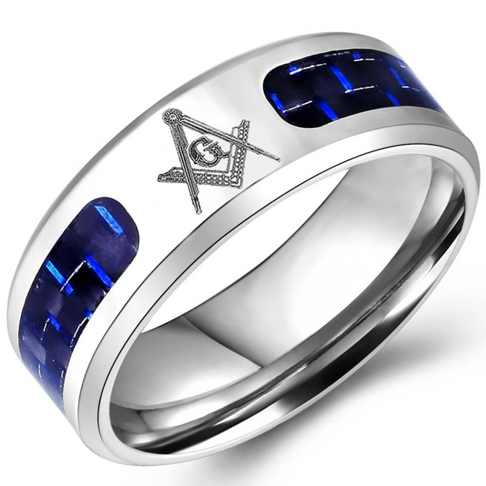 Online Buy Wholesale Steel Masonic Rings From China Steel Masonic For Masonic Wedding Bands (View 8 of 15)