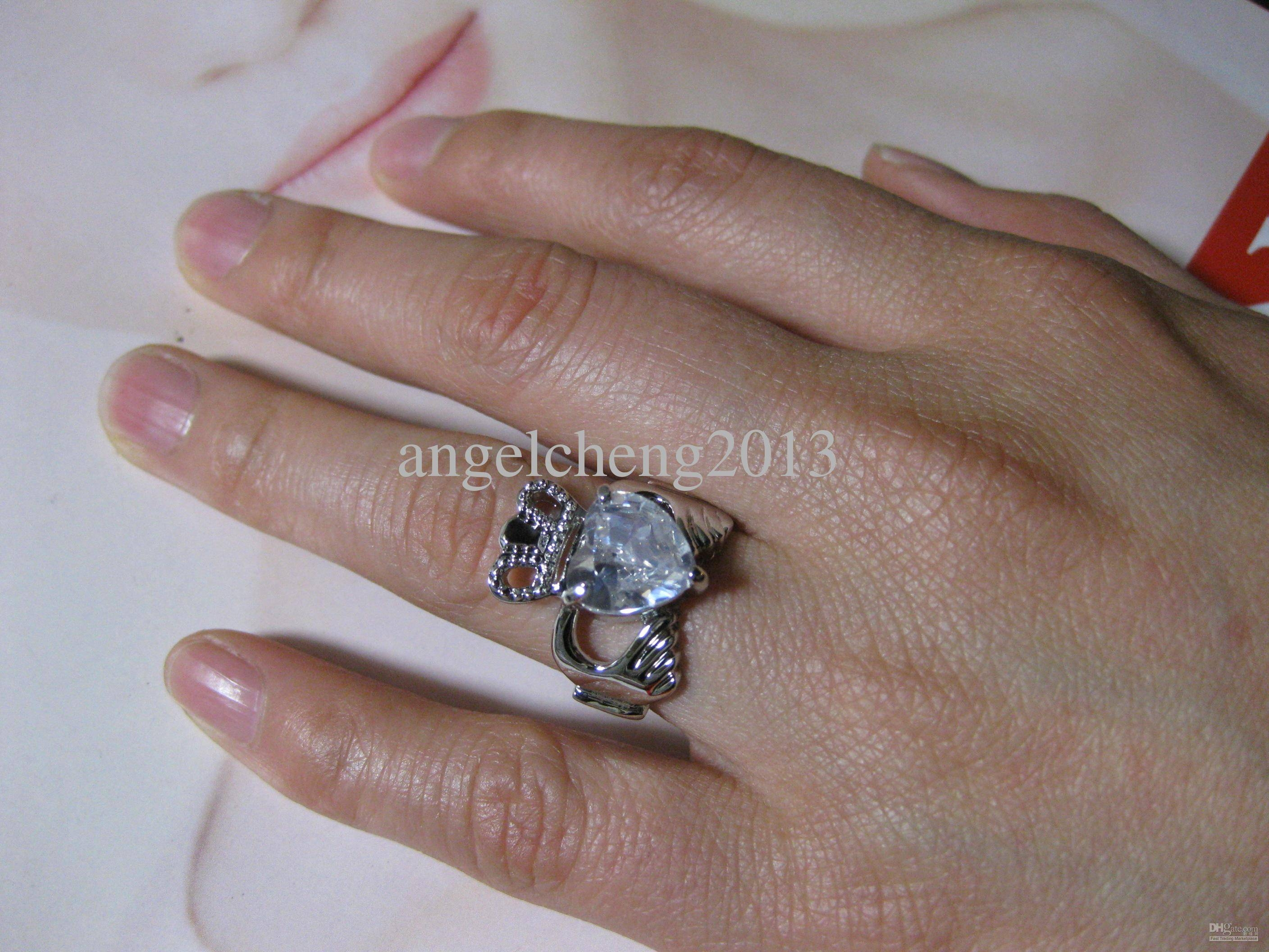 Online Cheap High Grade Zircon Irish Ring Claddagh Ring Frank Pertaining To Irish Engagement Ring Sets (Gallery 14 of 15)