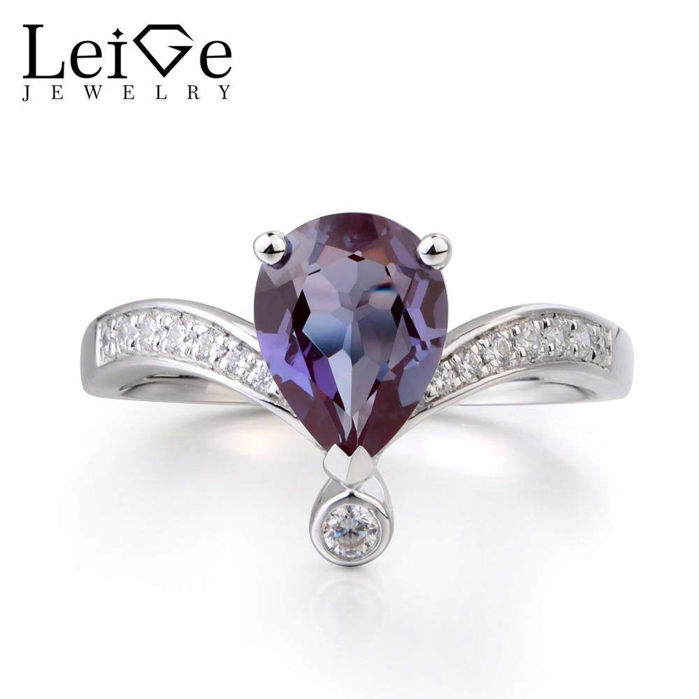 Online Get Cheap Alexandrite Engagement Rings  Aliexpress Pertaining To June Birthstone Engagement Rings (Gallery 9 of 15)