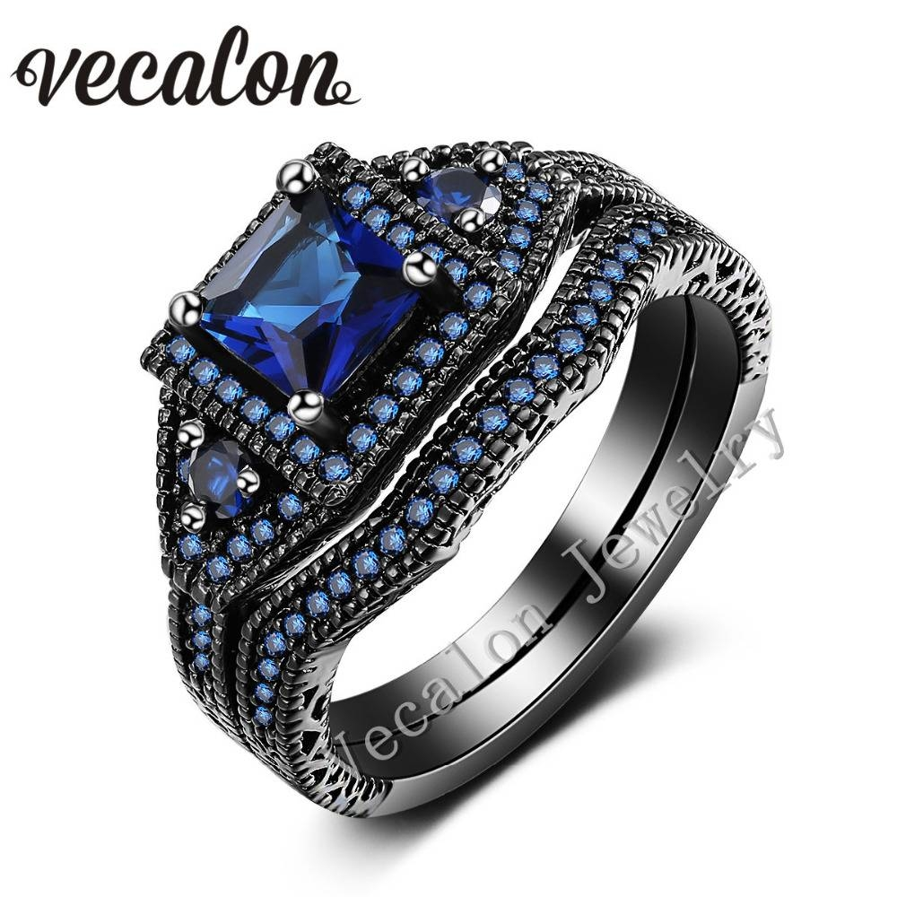 Online Get Cheap Black Gold Engagement Rings  Aliexpress Throughout Black Gold Diamond Wedding Rings (View 12 of 15)