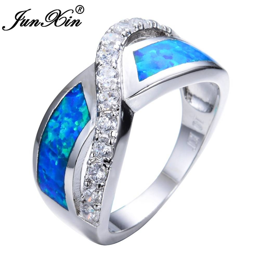Online Get Cheap Blue Opal Ring  Aliexpress | Alibaba Group Inside Blue Opal Wedding Rings (View 10 of 15)
