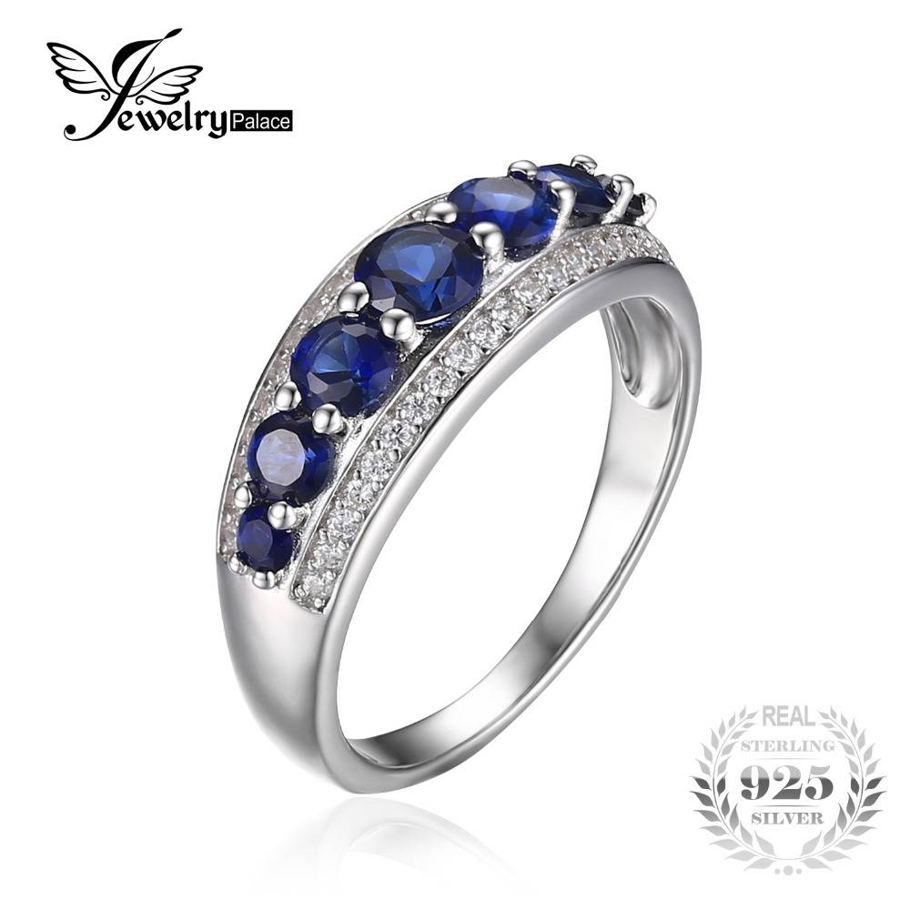 Online Get Cheap Blue Sapphire Wedding Ring  Aliexpress With Regard To Sapphire Wedding Rings For Women (Gallery 11 of 15)