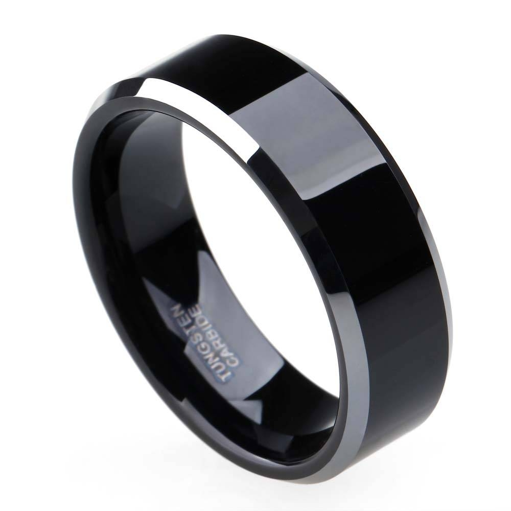 Online Get Cheap Flat Black Wedding Band  Aliexpress | Alibaba In Flat Black Wedding Bands (View 12 of 15)