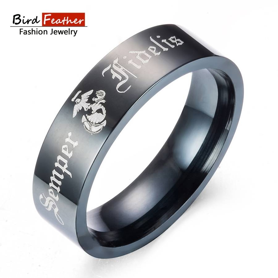Online Get Cheap Marine Corps Ring Aliexpress | Alibaba Group Regarding Marine Corps Wedding Bands (Gallery 5 of 15)