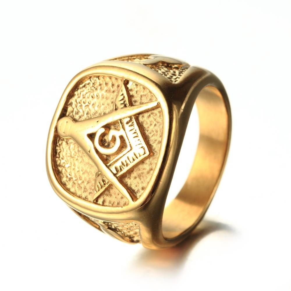 Online Get Cheap Masonic Gold Rings  Aliexpress | Alibaba Group Within Masonic Wedding Bands (View 9 of 15)