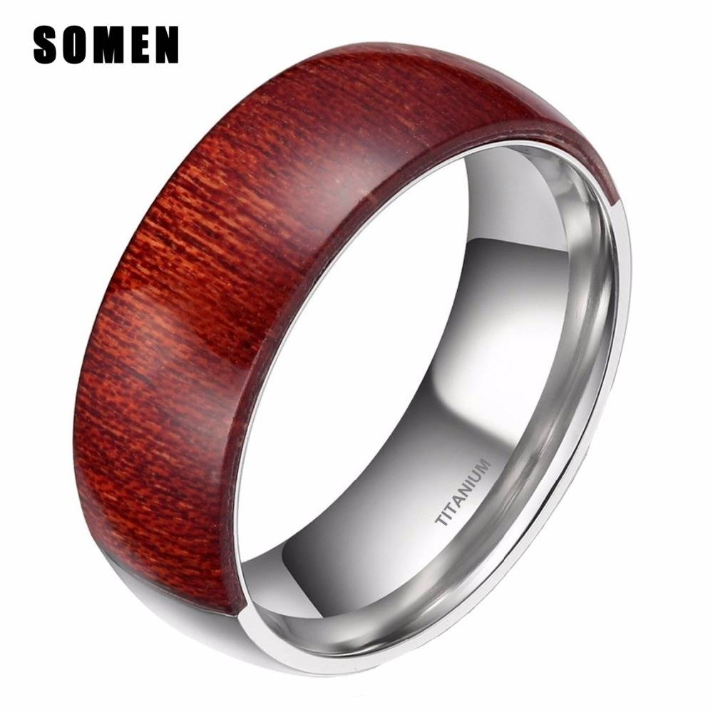 Online Get Cheap Men Wood Ring Band  Aliexpress | Alibaba Group Intended For Men Wood Grain Wedding Bands (View 9 of 15)