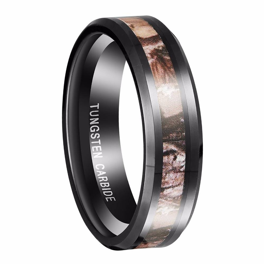 Online Get Cheap Mens Black Wedding Band Hunting Aliexpress Throughout Men's Black And Red Wedding Bands (View 7 of 15)