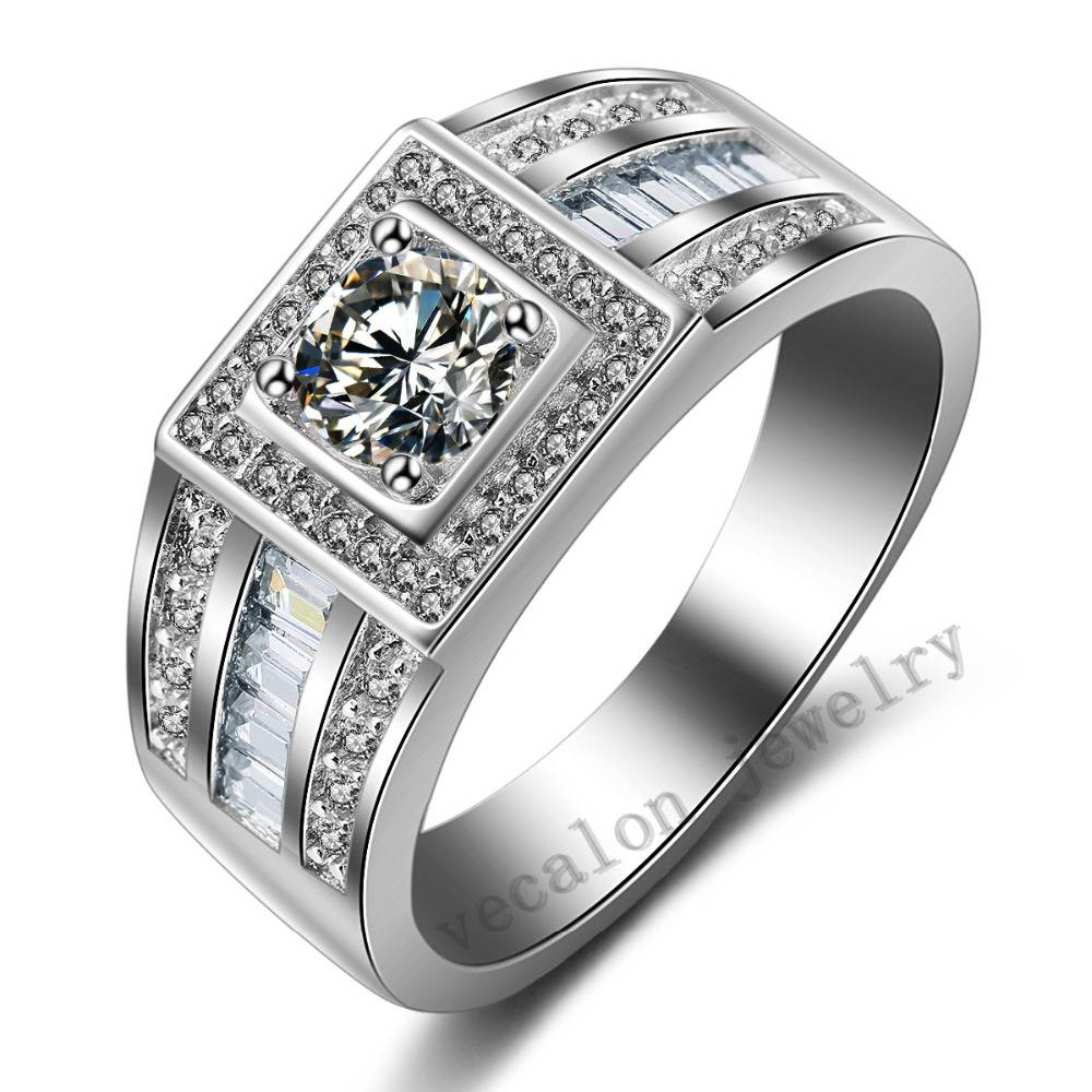 Online Get Cheap Mens Cz Rings  Aliexpress | Alibaba Group Pertaining To Men's Cz Wedding Bands (Gallery 5 of 15)