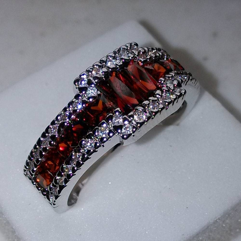 Online Get Cheap Mens Garnet  Aliexpress | Alibaba Group In Men's Garnet Wedding Bands (View 9 of 15)