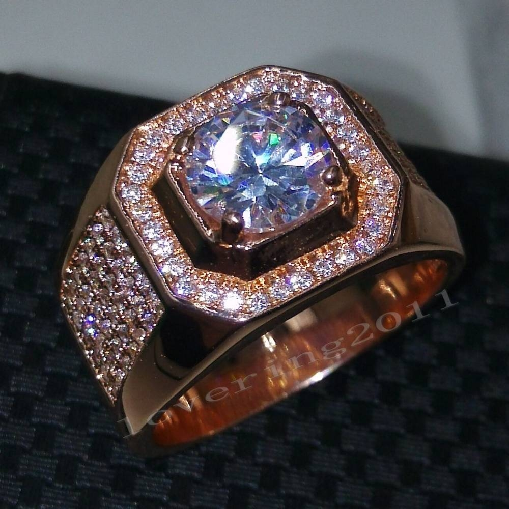 Online Get Cheap Mens Rose Gold Wedding Band  Aliexpress Inside Cheap Men's Diamond Wedding Bands (Gallery 13 of 15)