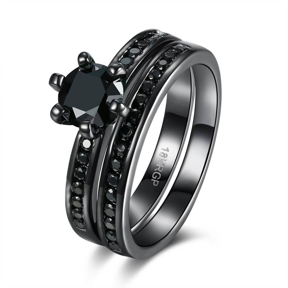 Online Get Cheap Onyx Engagement Ring  Aliexpress | Alibaba Group Intended For Onyx Wedding Bands (View 11 of 15)