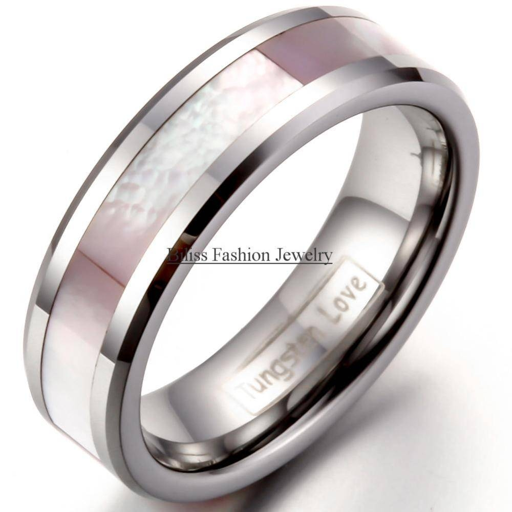 Online Get Cheap Pink Tungsten  Aliexpress | Alibaba Group Regarding Women Tungsten Wedding Bands (View 8 of 15)
