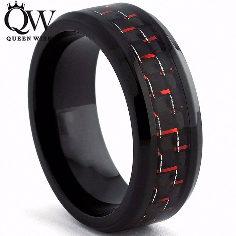 Online Get Cheap Red Tungsten Ring Aliexpress | Alibaba Group For Black And Red Men's Wedding Bands (View 8 of 15)