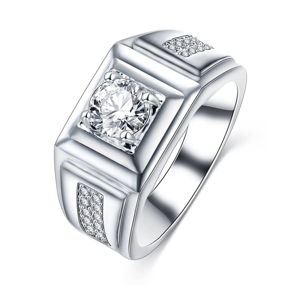 Online Get Cheap Ring Designs Diamond  Aliexpress | Alibaba Group Within Mens Engagement Rings Designs (View 11 of 15)