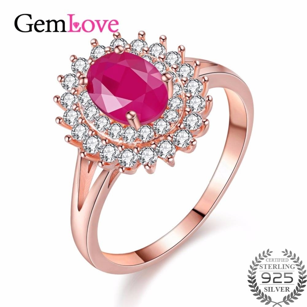Online Get Cheap Ruby Diamond Ring Aliexpress | Alibaba Group In Light Pink Wedding Rings (View 5 of 15)
