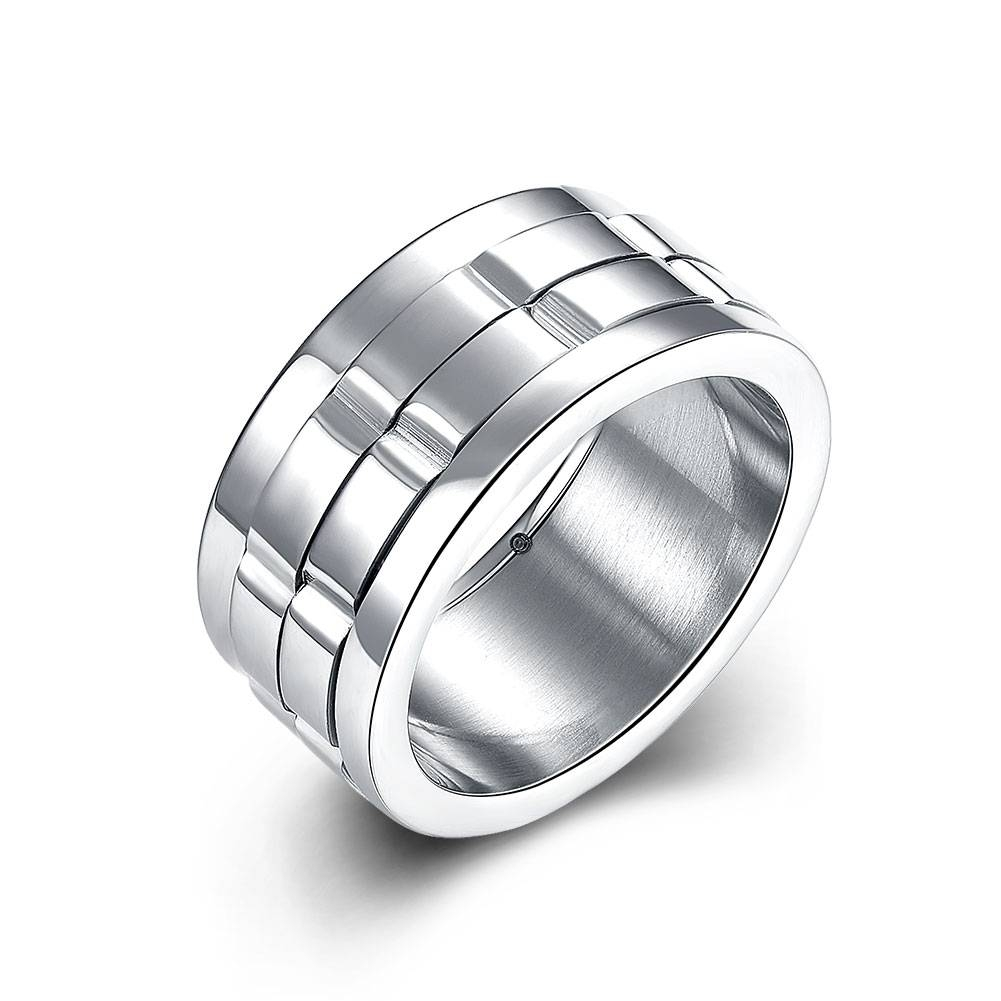 Online Get Cheap Silver Spinner Ring  Aliexpress | Alibaba Group Throughout Men's Spinning Wedding Bands (View 7 of 15)