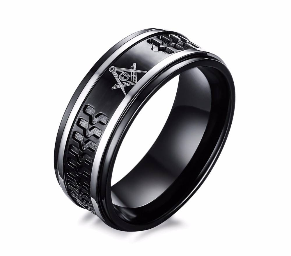 Online Get Cheap Stainless Masonic Rings  Aliexpress | Alibaba Pertaining To Masonic Wedding Bands (View 12 of 15)