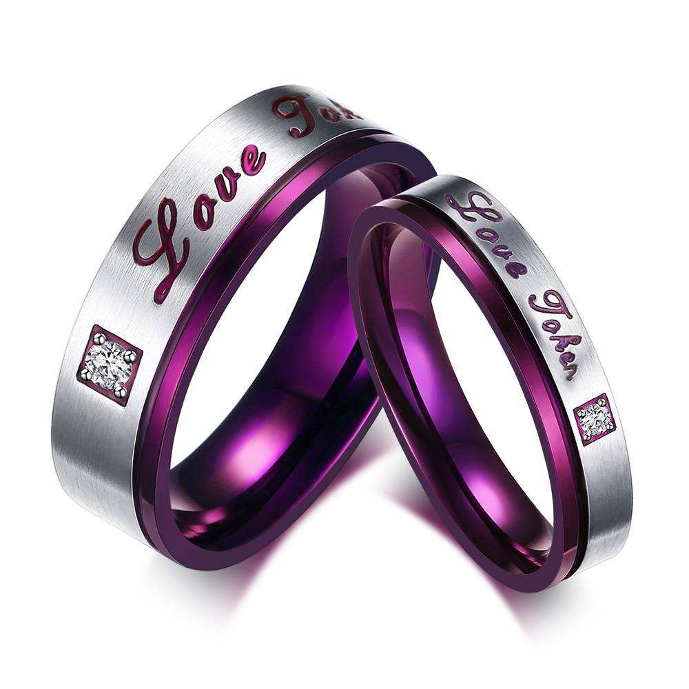 Online Get Cheap Token Wedding Gifts  Aliexpress | Alibaba Group Intended For Purple Wedding Bands (View 10 of 20)