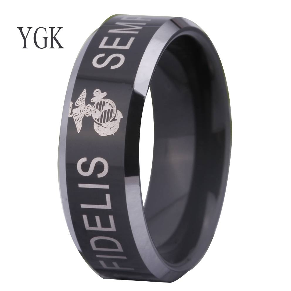 Online Get Cheap Usmc Rings  Aliexpress | Alibaba Group For Marine Corps Wedding Bands (View 14 of 15)