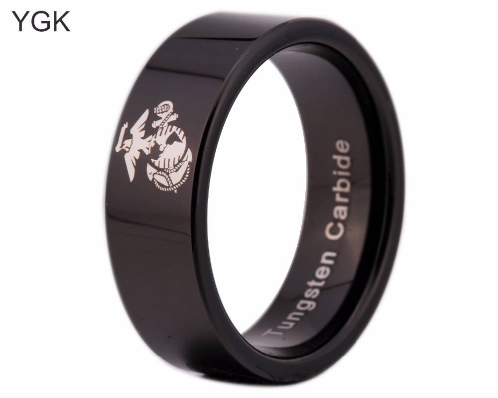 Online Get Cheap Usmc Rings Aliexpress | Alibaba Group Throughout Usmc Wedding Bands (View 15 of 15)