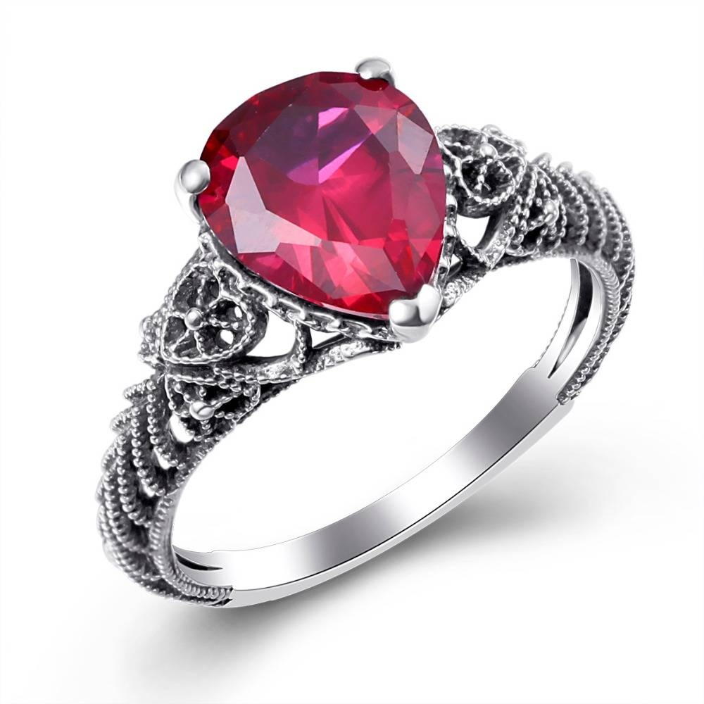 Online Get Cheap Vintage Ruby Engagement Ring Aliexpress With Regard To Ruby Engagement Rings For Women (View 7 of 15)