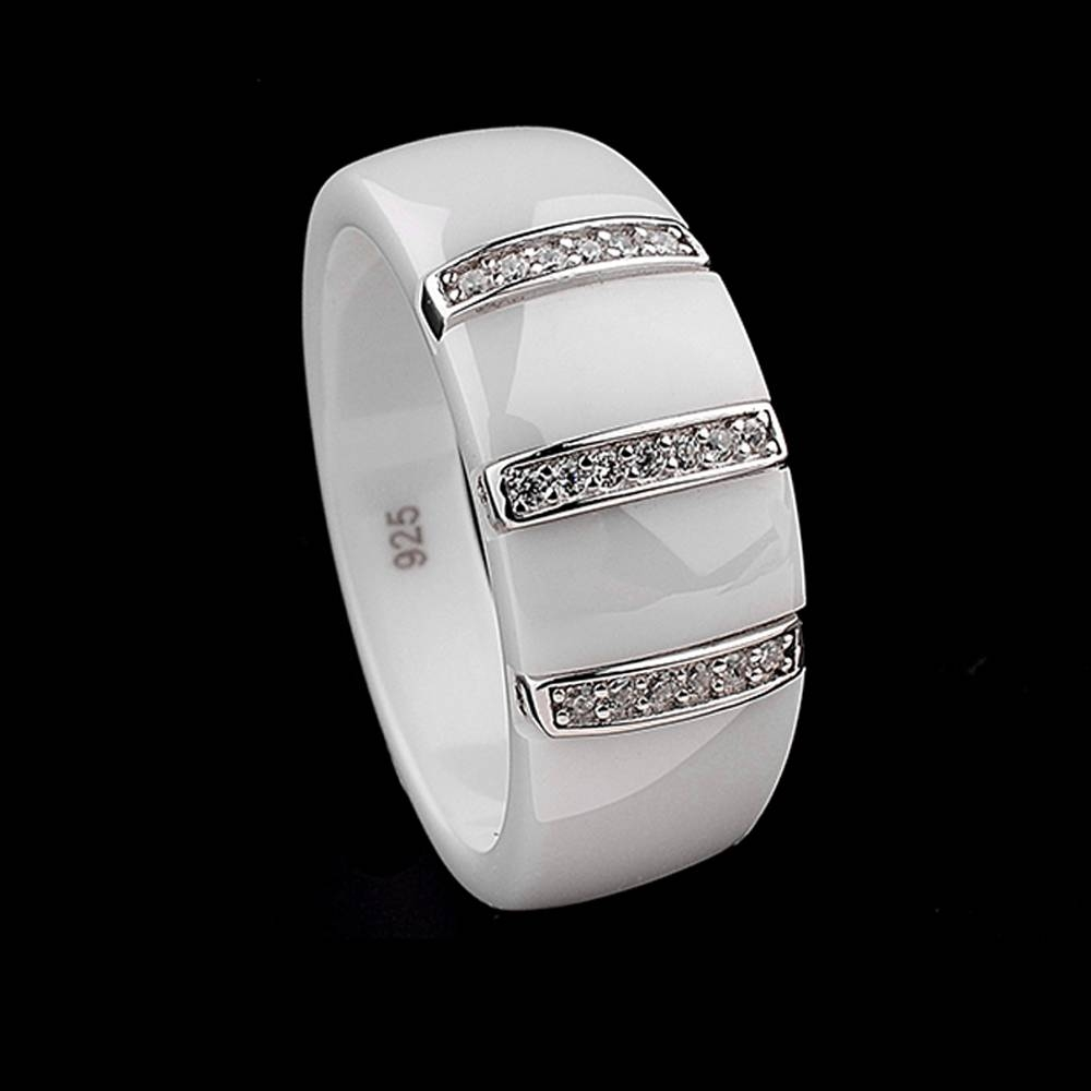 Online Get Cheap White Ceramic Wedding Band  Aliexpress Within White Ceramic Wedding Bands (Gallery 23 of 339)