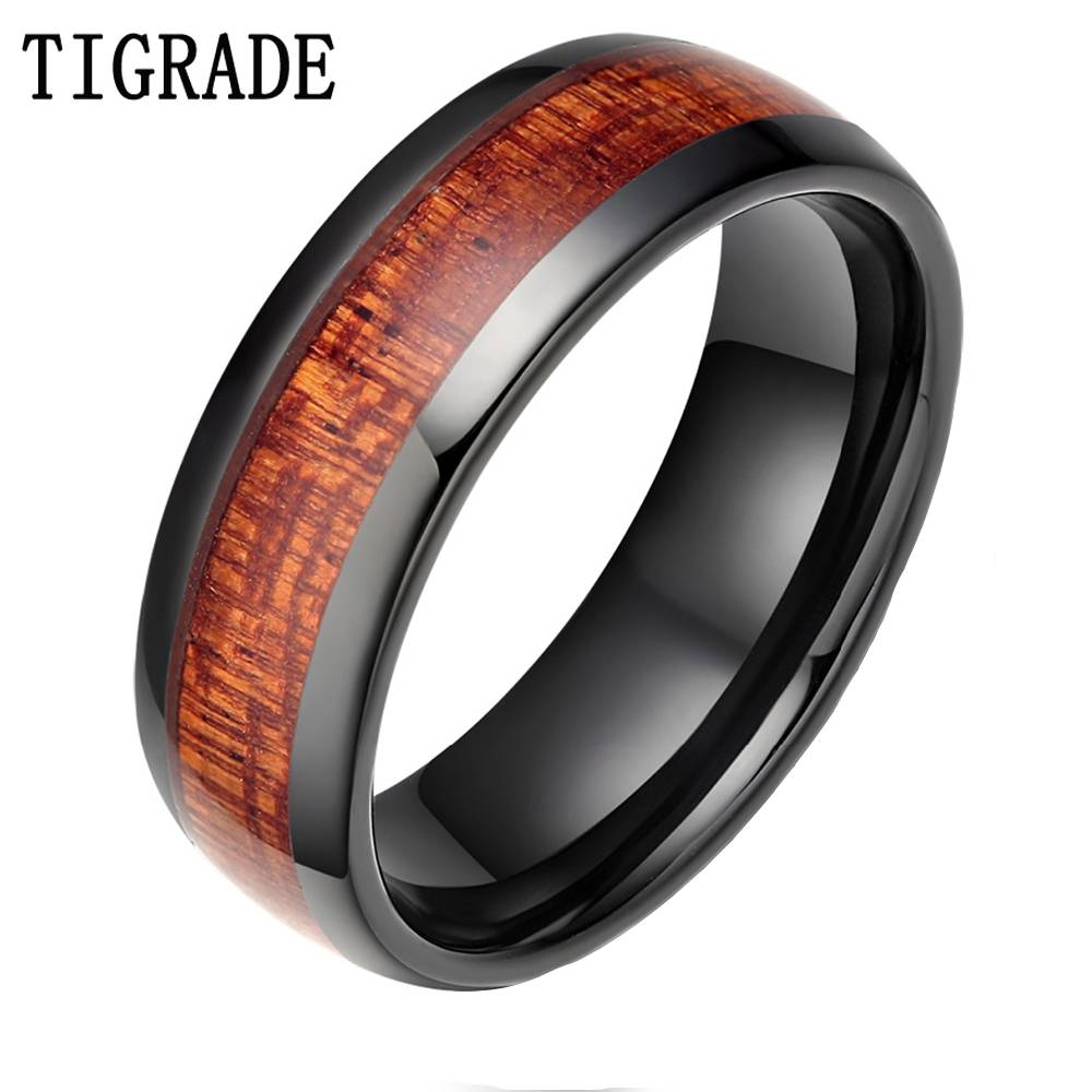 Online Get Cheap Wood Wedding Bands  Aliexpress | Alibaba Group Throughout Wood Grain Men's Wedding Bands (View 10 of 15)
