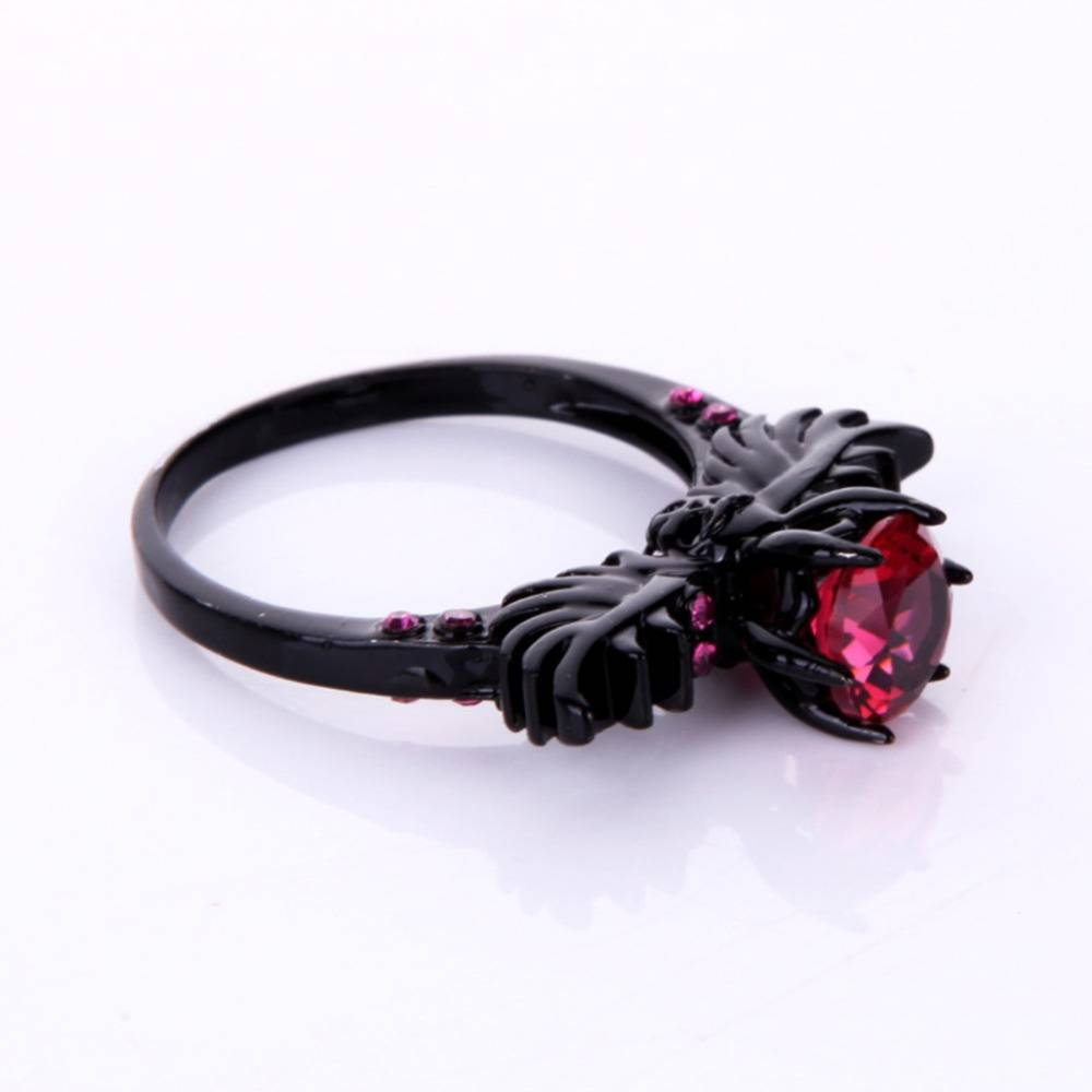 Online Shop Wedding Women's Ring Turkish Gothic Skull Wing Inside Gothic Engagement Rings For Women (Gallery 9 of 15)