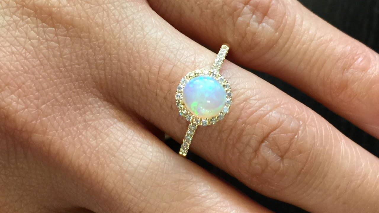 Opal Engagement Rings | Our Best Pieces U2013 Youtube Within Opal Wedding Rings  (Gallery 12